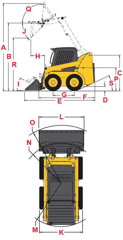 Gehl R Series R190 Specifications Diagram