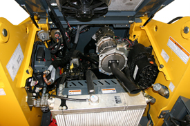 Gehl Skid Steer R190 Engine Access